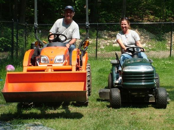 Tractor drag racing..