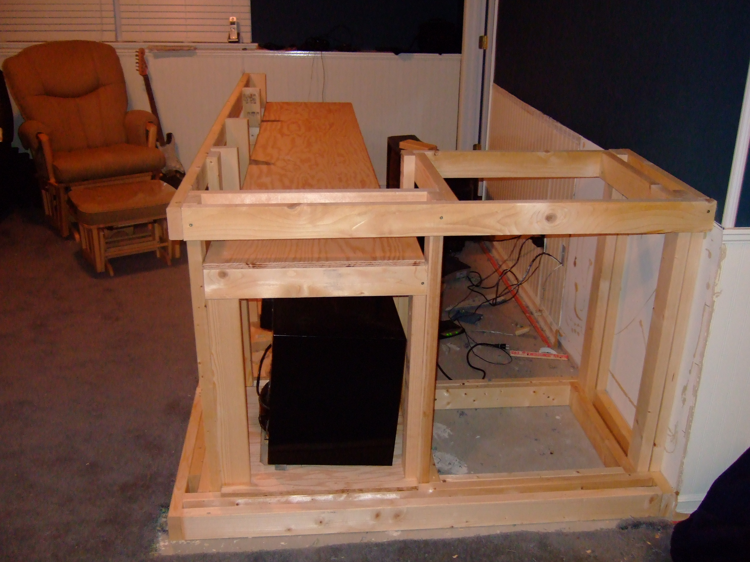 How To Build A Basement Bar The O 39 Shea Family Weblog