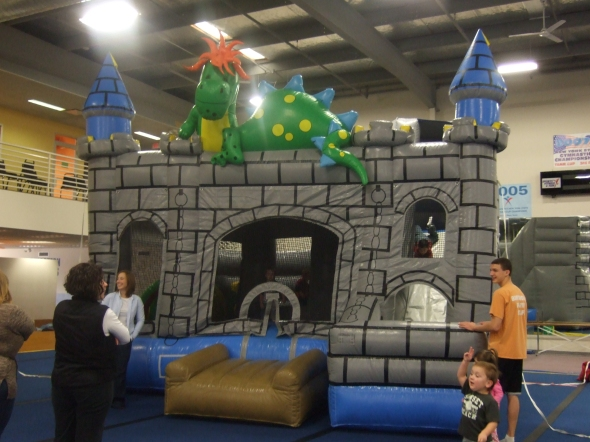 Huge bounce house