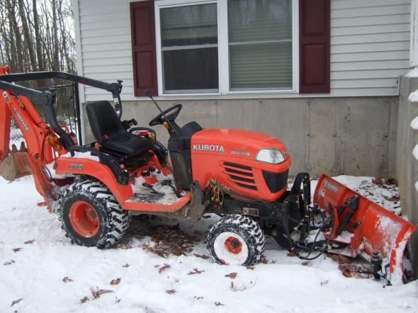 Big Mean Orange Plowing Machine