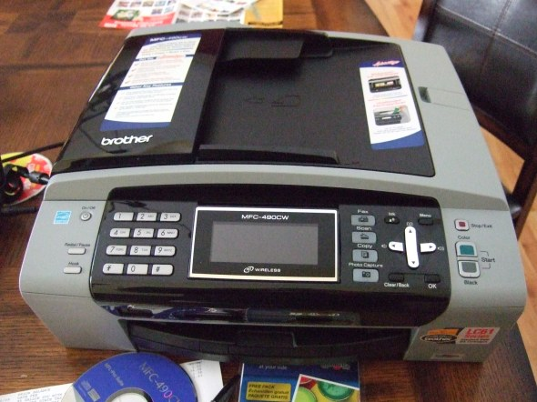 New printer, fax, scanner, coffee maker
