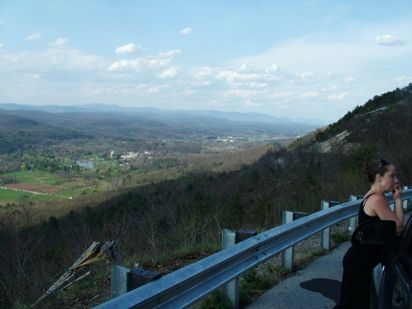 Scenic Overlook. Nevele in the distance.