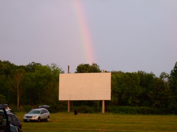 Pot of gold at the end of the rainbow? Nope, just a screen.