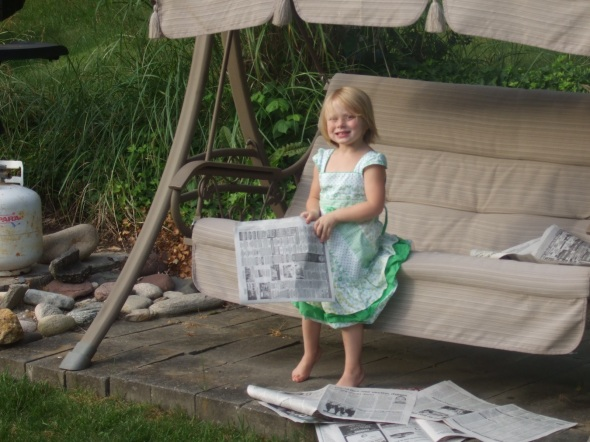 Maddie could not wait to read the paper!