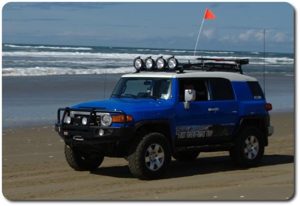 FJ Cruiser on the beach