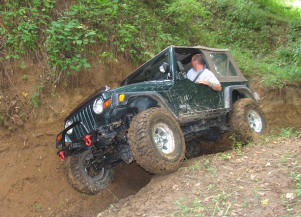 Jeep in trail