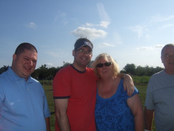 Me, Keith, Mom, and half of Dad.