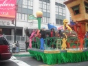Sesame Street float.